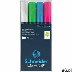 Schneider Marker do szklanych tablic maxx 245 b 2-3mm 4szt. mix kolorów - ogłoszenia A6.pl