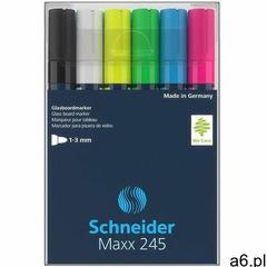 Marker do szklanych tablic maxx 245 2-3mm 6szt. mix kolorów marki Schneider - ogłoszenia A6.pl