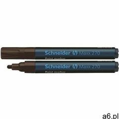 Marker olejowy SCHNEIDER Maxx 270, okrągły, 1-3 mm, brązowy (4004675027047) - ogłoszenia A6.pl