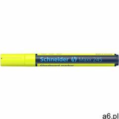 Marker do szklanych tablic SCHNEIDER Maxx 245 2-3mm żółty (4004675135483) - ogłoszenia A6.pl