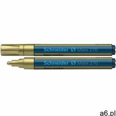 Marker olejowy SCHNEIDER Maxx 270, okrągły, 1-3 mm, złoty, 127053 - ogłoszenia A6.pl