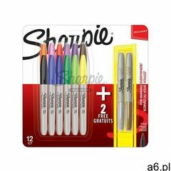 Markery Permanentne Sharpie 12 + 2 Kolorów Fine - ogłoszenia A6.pl