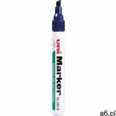 Marker UNI perm. NO-580 ścięty niebieski - ogłoszenia A6.pl