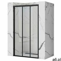Rea Drzwi prysznicowe czarne rozsuwane 90 cm alex black uzyskaj 5 % rabatu na zakup - ogłoszenia A6.pl