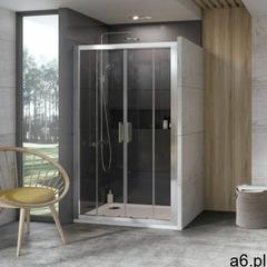 Ravak drzwi prysznicowe 10 stopni 10DP4-130 biały + transparent 0ZKJ0100Z1 - ogłoszenia A6.pl