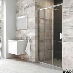 Ravak Blix Drzwi prysznicowe BLDP3-90, Polerowane aluminium+Transparent X00H70C00Z1 - ogłoszenia A6.pl