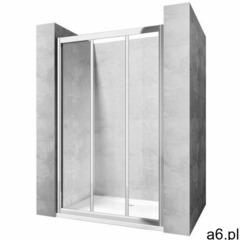 ALEX 130 Drzwi prysznicowe 121,5-131,5x190, profile chrom, szkło transparentne, REA-K0923 - ogłoszenia A6.pl