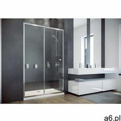 Besco duo slide drzwi prysznicowe przesuwne 130x195 przejrzyste dds-130 - ogłoszenia A6.pl
