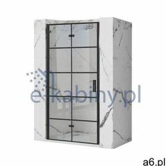 Rea Molier Black drzwi prysznicowe 80 cm profile czarne REA-K8537 - ogłoszenia A6.pl