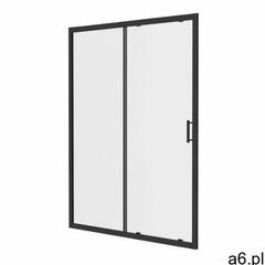 Drzwi prysznicowe przesuwne GoodHome Beloya 120 cm czarne / transparentne (3663602440581) - ogłoszenia A6.pl