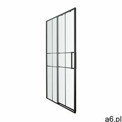 Drzwi prysznicowe przesuwne ahti 120 cm chrom/czarny marki Goodhome - ogłoszenia A6.pl