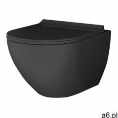 Miska WC wisząca MGP bezkołnierzowa z deską wolnoopadającą z duroplastu czarna - ogłoszenia A6.pl