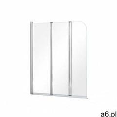 Besco Prime 3 parawan nawannowy 120x140 cm trzyczęściowy szkło przezroczyste PNP-3S, PNP-3S - ogłoszenia A6.pl