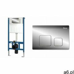 Rea Stelaż podtynkowy wc zestaw z przyciskiem f chrom ✖️autoryzowany dystrybutor✖️ (5902557330829) - ogłoszenia A6.pl