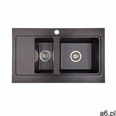 Zlewozmywak granitowy nubiru 15 czarny metalik marki Brenor - ogłoszenia A6.pl