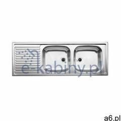 Blanco Top EZS 12x4-2 zlewozmywak stalowy 123,5x43,5 cm stal matowa 500374 (4020684651356) - ogłoszenia A6.pl