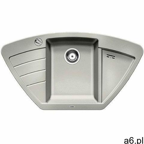Blanco Zlew zia 9e perłowoszary z korkiem auto (520641) //otwory wycinany gratis// - 1