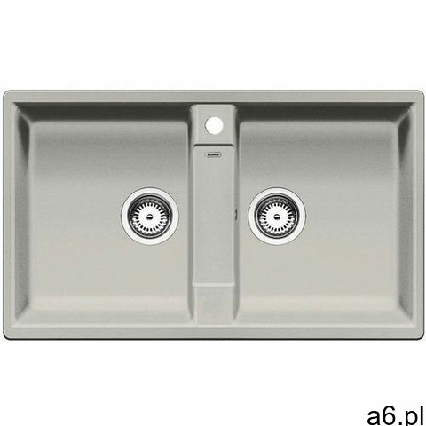 Zlew BLANCO ZIA 9 PERŁOWOSZARY z korkiem manualnym (520640) (zamów wycięcie otworów gratis), kolor s - 1