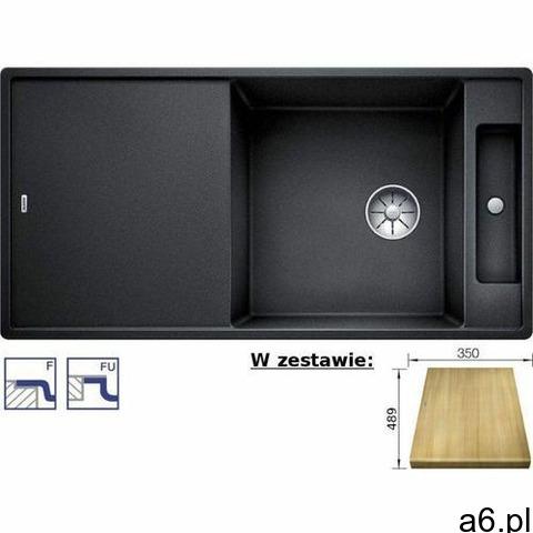Zlewozmywak AXIA III XL 6S-F Silgranit PuraDur antracyt odwracalny z deską drewnianą, z korkiem InFi - 1