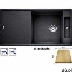Zlewozmywak AXIA III XL 6S-F Silgranit PuraDur antracyt odwracalny z deską drewnianą, z korkiem InFi - ogłoszenia A6.pl