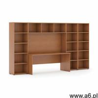 Biblioteka z wbudowanym biurkiem, niska/szeroka, 3350x700/400x1923 mm, czereśnia - ogłoszenia A6.pl