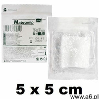 Kompresy gaz.jał.17nit. 8 warst.MATOCOMP 5x 5 cm - - 3 szt., MA-102-B003-001 - ogłoszenia A6.pl