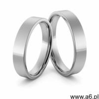 Obrączki ślubne platynowe klasyczne płaskie 5 mm - Pt-20 - ogłoszenia A6.pl