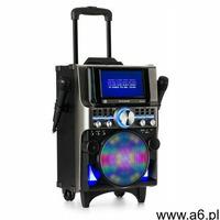 disgo box 360 zestaw nagłaśniający 2 mikrofony hdmi bt led usb kółka czarny marki Auna pro - ogłoszenia A6.pl