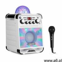 Auna rockstar led zestaw do karaoke odtwarzacz cd bluetooth usbbiały (4260509688451) - ogłoszenia A6.pl