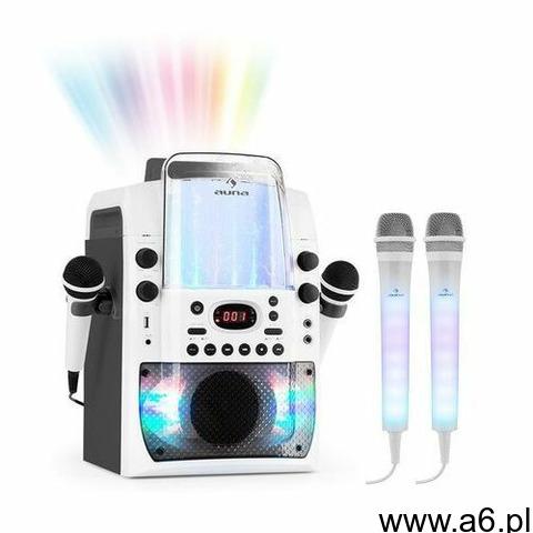 kara liquida bt zestaw karaoke szary 2 mikrofony dazzl led marki Auna - 1