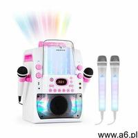 kara liquida bt zestaw karaoke różowy + 2 mikrofony dazzl led marki Auna