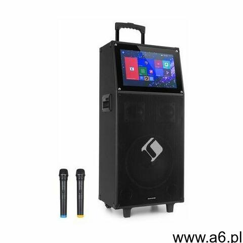 """Auna Pro KTV, zestaw karaoke, wyświetlacz dotykowy o przekątnej 39 cm (15,4""""), 2 mikrofony UHF,  - 1"""