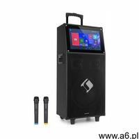 """Auna Pro KTV, zestaw karaoke, wyświetlacz dotykowy o przekątnej 39 cm (15,4""""), 2 mikrofony UHF,  - ogłoszenia A6.pl"""