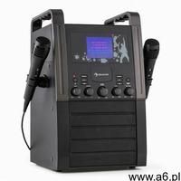 Auna a8b-v2 bk zestaw karaoke odtwarzacz cd aux 2 x mikrofon czarny (4260435912385) - ogłoszenia A6.pl